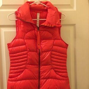 Red Orange Puffer Vest